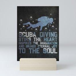 Scuba Diver Gift Idea Mini Art Print