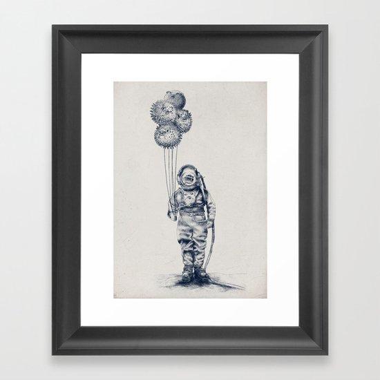 Balloon Fish - monochrome option Framed Art Print