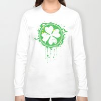 clover Long Sleeve T-shirts featuring Patrick's clover by Sitchko Igor
