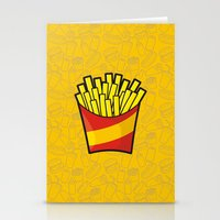 french fries Stationery Cards featuring French Fries by Sifis