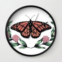 Monarch & Milkweed Wall Clock