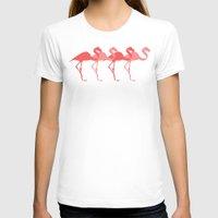 flamingos T-shirts featuring Flamingos by Dana Martin
