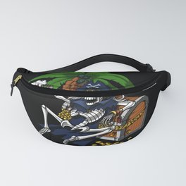 Pirate Skeleton Captain Drinking Beer Party Fanny Pack