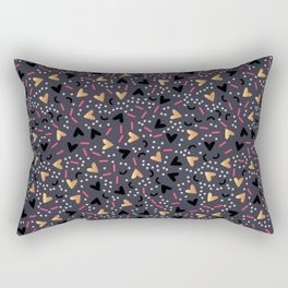 Beautiful valentines day background with dark and gold hearts Rectangular Pillow