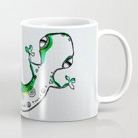 lizard Mugs featuring Lizard by Olga_Kh