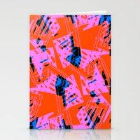 orange pattern Stationery Cards featuring Orange Pattern by Sarah Bagshaw