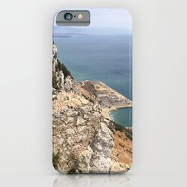 Beautiful Gibraltar rock view to Morokko in summer iPhone Case