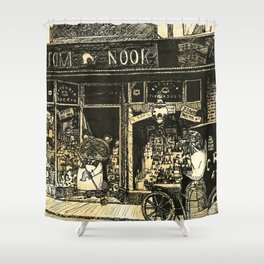 Nook's Grocery and C. Redd's Mobile Art Emporium Shower Curtain