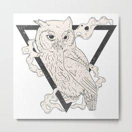 Owl Boho Metal Print