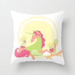 Magical Meow-ment - v1 Throw Pillow