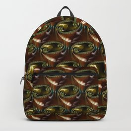 Brown Glass Abstract Fractal Backpack