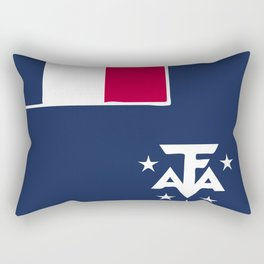 French Sourthern and Atlantic Lands flag emblem Rectangular Pillow