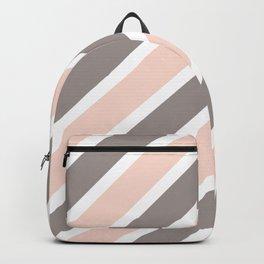 Light Pink & Grey Stripes Backpack