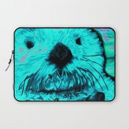 Sea Otter, mint green Laptop Sleeve