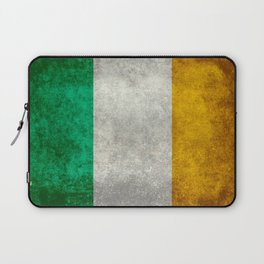 Republic of Ireland Flag, Vintage grungy Laptop Sleeve