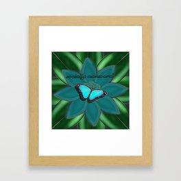Socially Awkward Butterfly Framed Art Print