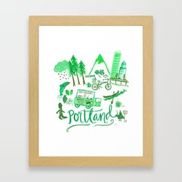 City of Portland Framed Art Print