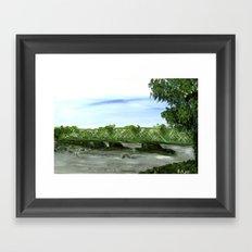 New Hope Lambertville Bridge Framed Art Print