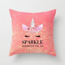 Sparkle Wherever You Go Throw Pillow