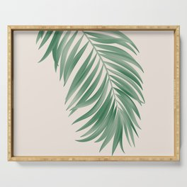Palm Tropical Green Gardenia Serving Tray