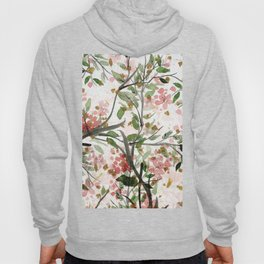 Watercolor pink green black gold floral  Hoody