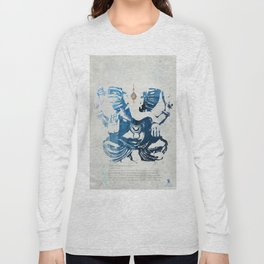 GANESHA indigo Long Sleeve T-shirt