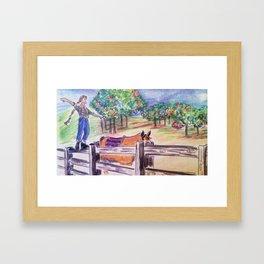 Split-rail 2 Framed Art Print