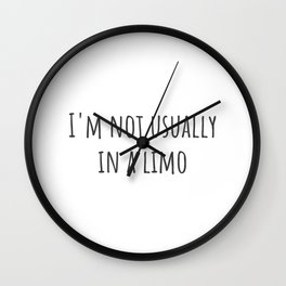 In a Limo Wall Clock