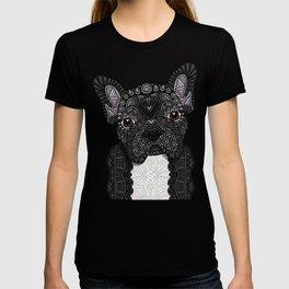 Black Frenchie 001 T-shirt