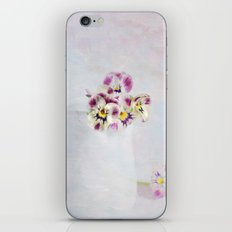 little pansies iPhone & iPod Skin