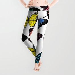 butterfly pattern, colorful butterflies Leggings