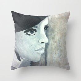 Edie Sedgwick Throw Pillow