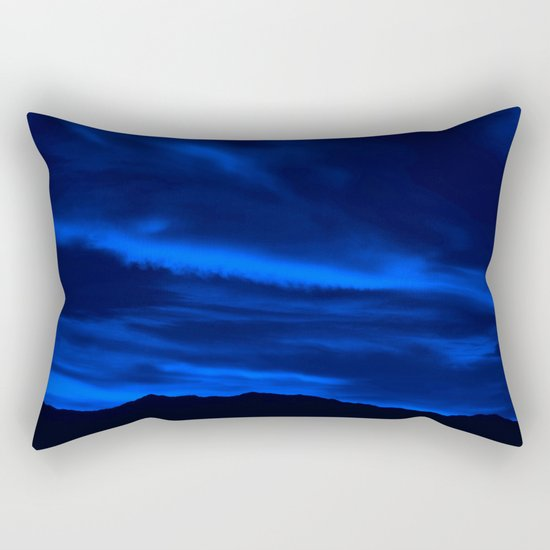 SW Midnight Blue Morning Rectangular Pillow