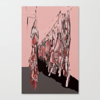 meat Canvas Prints featuring Meat by Robert Morris