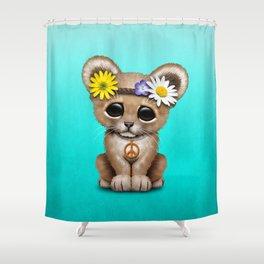 Cute Baby Lion Cub Hippie Shower Curtain