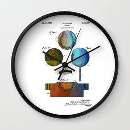 Patent drawing of Baseball - Circa 1949 Wall Clock