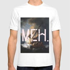 meh. Mens Fitted Tee White MEDIUM