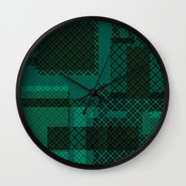 Patchwork 3 Wall Clock