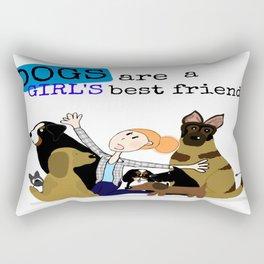 Dogs best friend Rectangular Pillow