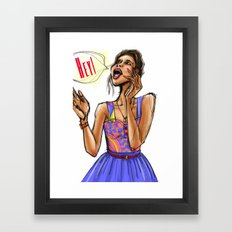 Hey Girl (Hey!) Framed Art Print