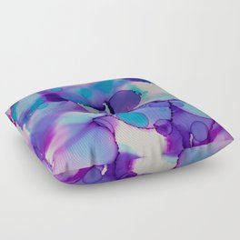 Purple and blue Floor Pillow