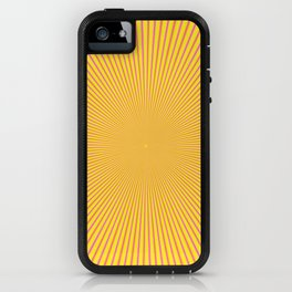 Rays in Yellow Red and Pink iPhone Case