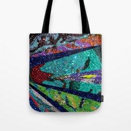 Peacock Mermaid Battlestar Galactica Abstract Tote Bag