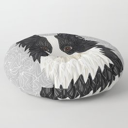 Beautiful Border Collie Floor Pillow