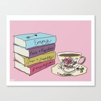 literature Canvas Prints featuring Lovely Literature by Robby Reads