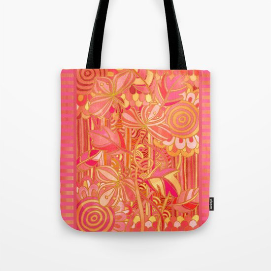 Drawn into the Garden Tote Bag