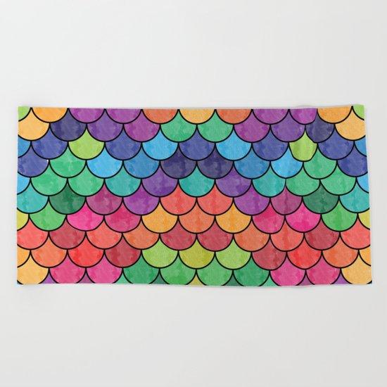 Watercolor Lovely Pattern VVXVII Beach Towel