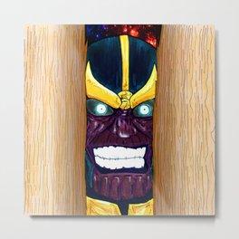 Thanos. The shining titan Metal Print