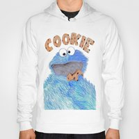 cookie monster Hoodies featuring cookie monster by Art_By_Sarah