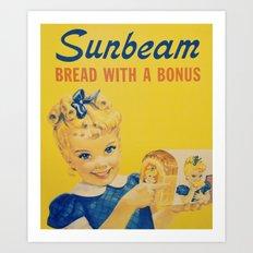The Sunbeam Girl Art Print